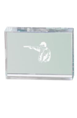 Trophée en Verre avec Applique : 12421