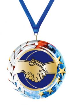 Lot de 10 medailles HANDBALL 70mm