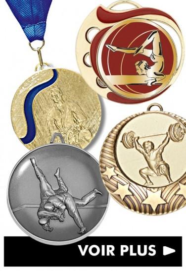 Médaille par sports et activités